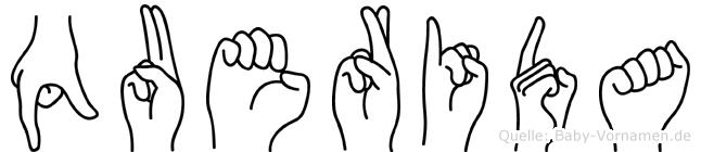 Querida in Fingersprache für Gehörlose