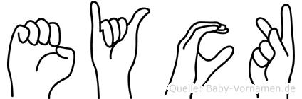 Eyck im Fingeralphabet der Deutschen Gebärdensprache
