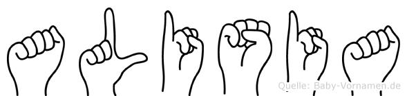 Alisia in Fingersprache für Gehörlose