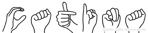 Catina in Fingersprache für Gehörlose