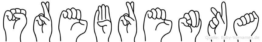 Srebrenka im Fingeralphabet der Deutschen Gebärdensprache