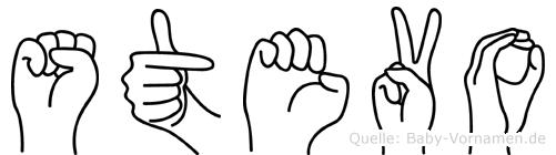 Stevo im Fingeralphabet der Deutschen Gebärdensprache