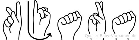 Kjara im Fingeralphabet der Deutschen Gebärdensprache