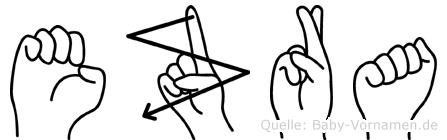 Ezra in Fingersprache für Gehörlose
