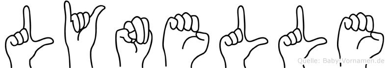 Lynelle in Fingersprache für Gehörlose