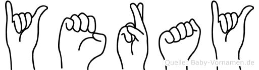 Yeray in Fingersprache für Gehörlose