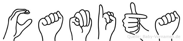 Camita im Fingeralphabet der Deutschen Gebärdensprache