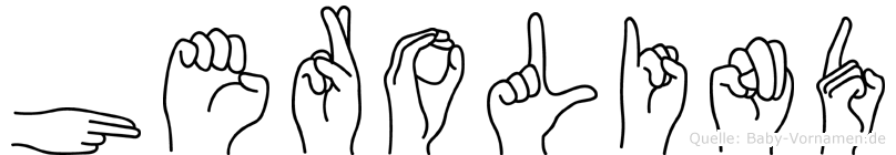 Herolind im Fingeralphabet der Deutschen Gebärdensprache