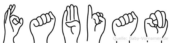 Fabian in Fingersprache für Gehörlose
