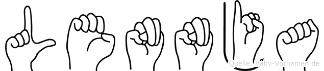 Lennja in Fingersprache für Gehörlose