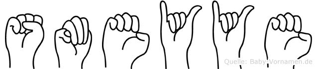 Sümeyye in Fingersprache für Gehörlose