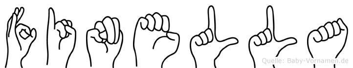 Finella in Fingersprache für Gehörlose