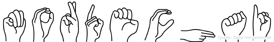 Mordechai im Fingeralphabet der Deutschen Gebärdensprache