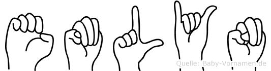 Emlyn im Fingeralphabet der Deutschen Gebärdensprache