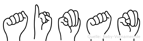 Aiman in Fingersprache für Gehörlose