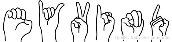 Eyvind im Fingeralphabet der Deutschen Gebärdensprache