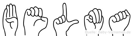 Belma in Fingersprache für Gehörlose