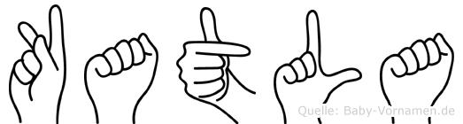 Katla in Fingersprache für Gehörlose