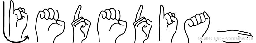 Jedediah in Fingersprache für Gehörlose