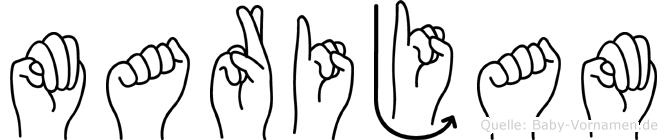 Marijam in Fingersprache für Gehörlose