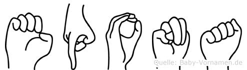 Epona in Fingersprache für Gehörlose