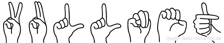 Vullnet in Fingersprache für Gehörlose