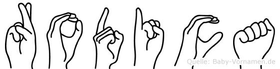 Rodica im Fingeralphabet der Deutschen Gebärdensprache