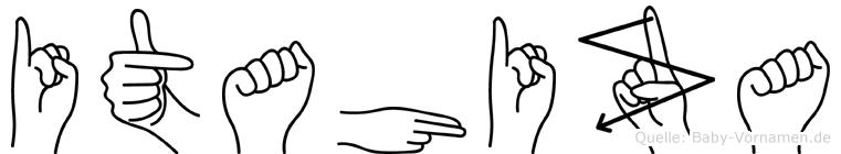 Itahiza im Fingeralphabet der Deutschen Gebärdensprache