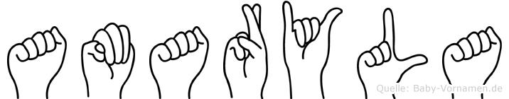 Amaryla in Fingersprache für Gehörlose