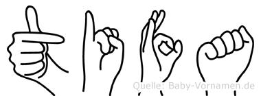 Tifa in Fingersprache für Gehörlose