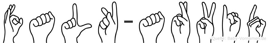 Falk-Arvid im Fingeralphabet der Deutschen Gebärdensprache