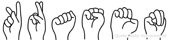 Krasen in Fingersprache für Gehörlose