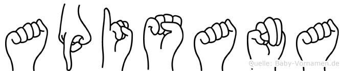 Apisana in Fingersprache für Gehörlose
