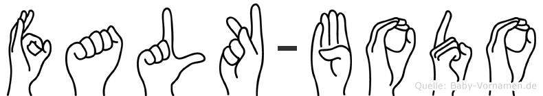 Falk-Bodo im Fingeralphabet der Deutschen Gebärdensprache