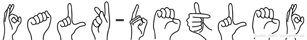 Falk-Detlef im Fingeralphabet der Deutschen Gebärdensprache
