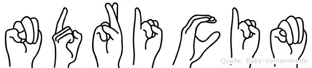 Ndricim in Fingersprache für Gehörlose