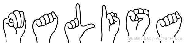 Malisa im Fingeralphabet der Deutschen Gebärdensprache