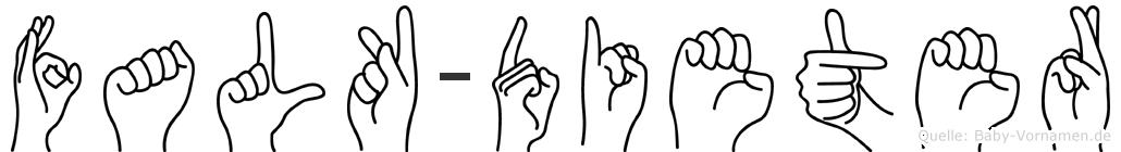 Falk-Dieter im Fingeralphabet der Deutschen Gebärdensprache