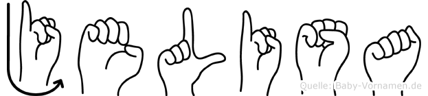 Jelisa im Fingeralphabet der Deutschen Gebärdensprache