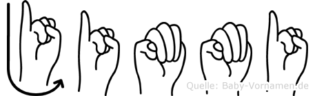 Jimmi im Fingeralphabet der Deutschen Gebärdensprache