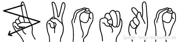 Zvonko in Fingersprache für Gehörlose