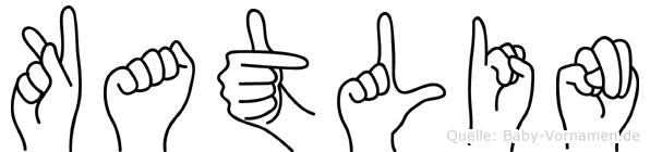 Katlin im Fingeralphabet der Deutschen Gebärdensprache