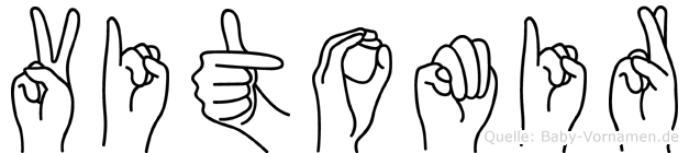 Vitomir im Fingeralphabet der Deutschen Gebärdensprache