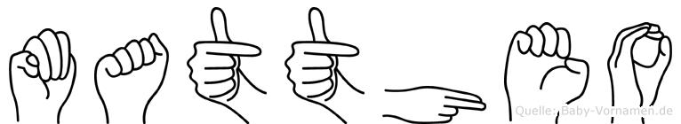 Mattheo in Fingersprache für Gehörlose
