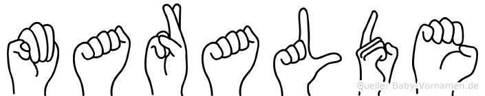 Maralde in Fingersprache für Gehörlose