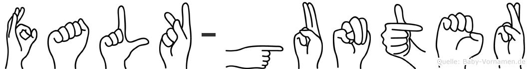 Falk-Gunter im Fingeralphabet der Deutschen Gebärdensprache
