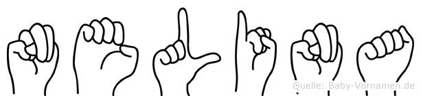 Nelina im Fingeralphabet der Deutschen Gebärdensprache