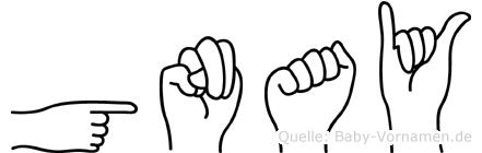 Günay im Fingeralphabet der Deutschen Gebärdensprache
