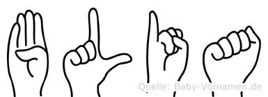 Blia in Fingersprache für Gehörlose