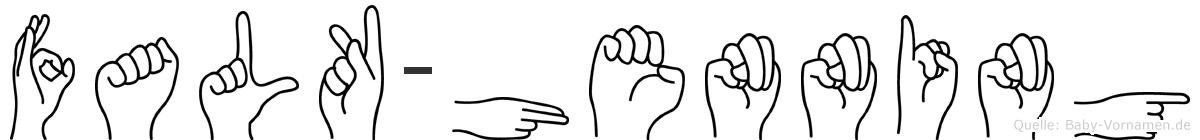 Falk-Henning im Fingeralphabet der Deutschen Gebärdensprache